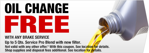 FREE OIL CHANGE WITH BRAKE SERVICE